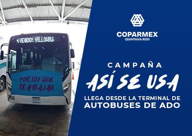 """CAMPAÑA """"ASÍ SE USA"""" LLEGA DESDE LA TERMINAL DE AUTOBUSES DE ADO"""
